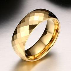Fashion Men Jewelry Exquisite Tungsten Steel Multi-section Gold Ring, Size: 13, Diameter: 22.3mm, Perimeter: 70mm