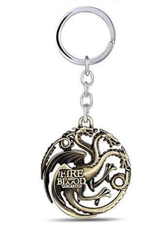 SOI Game of Thrones Targaryen House Golden Key Chains and Key Rings