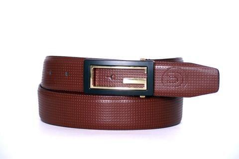 Designer Select Genuine Formal Tan Leather Belt with Imported Buckle - Dot