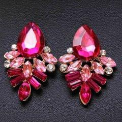 Fashion Jewelry Earrings Handmade Rhinestone Sweet Stud Crystal Dangle Earrings(Black)