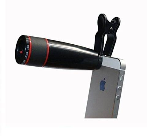 12X Zoom Mobile Phone Telescope Lens with Adjustable Clip Mobile Phone Lens