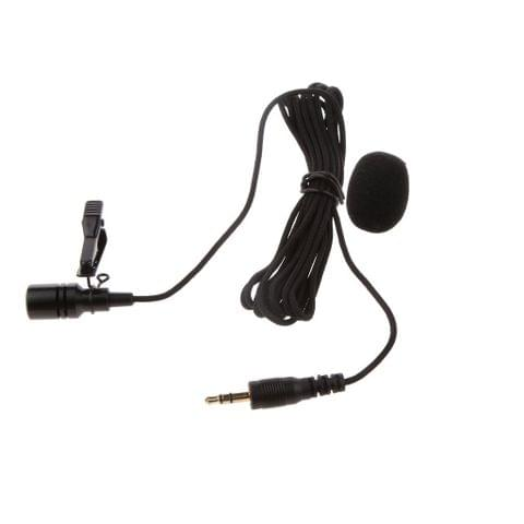 3.5 mm Clip on Mini Tie Lapel Lavalier Microphone for All Devices