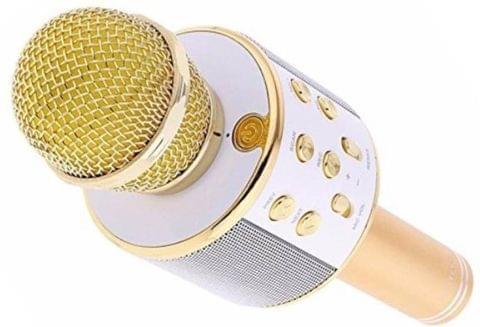 Konarrk Stylish Electronic Wireless WS-858 Handheld Microphone (Gold)