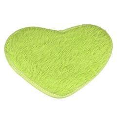 Heart Shape Non-slip Bath Mats Kitchen Carpet Home Decoration(Fruit Green)