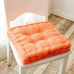Thickened Square Computer Chair Cushion Floor Mat for Office Classroom Home, Size:38x38cm (Orange)
