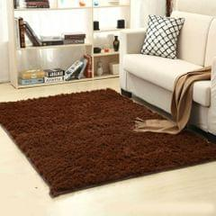 Shaggy Carpet for Living Room Home Warm Plush Floor Rugs fluffy Mats Kids Room Faux Fur Area Rug, Size:80x120cm(Coffee)
