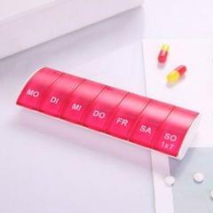 Portable Seven-part Mini Storage Pill Box(Red)