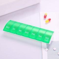 Portable Seven-part Mini Storage Pill Box(Green)