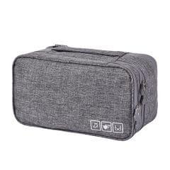 Bra Underwear Drawer Organizers Travel Storage Dividers Socks Briefs Cloth Case Clothing Wardrobe Box Bag(Gray )