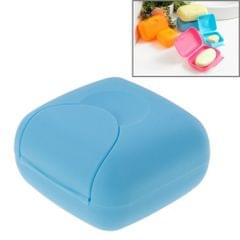 Creative Plastic Travel Soap Box with Cover and Lock, Small Size, Random Color Delivery