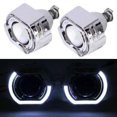 IPHCAR H1 2.5 inch 12V Bi-Xenon Projector Lens Headlight with Exquisite Angle Eyes Decoration for Left Driving (White Light)