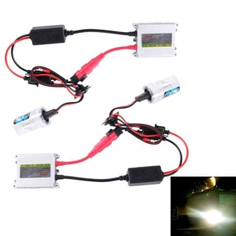 DC12V 35W 2x H3 Slim HID Xenon Light, High Intensity Discharge Lamp, Color Temperature: 8000K