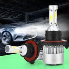 2 PCS S2 H13 / 9008 18W 6000K 1800LM IP65 2 COB LED Car Headlight Lamps, DC 9-30V(Cool White)