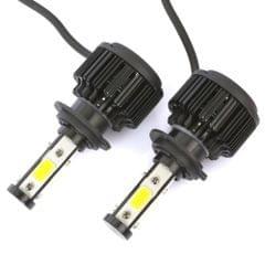 2 PCS X6 H7 36W 3600LM 6500K 4 COB LED Car Headlight Lamps DC 9-32V White Light(Black)