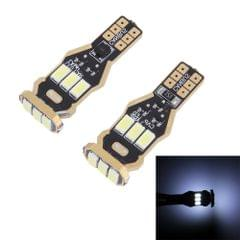 2 PCS T15 4W 300LM 6000K 9 SMD-5630 LEDs Car Clearance Lights Brake Light Lamp, DC 12V(White Light)