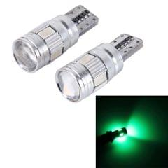 2PCS T10 3W 6 SMD 5630 LED Error-Free Canbus Car Clearance Lights Lamp, DC 12V(Green Light)