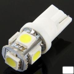 T10 5 LED Super White Vehicle Car Signal Light Bulb (Pair)(White)