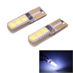 2 PCS T10 2W 120-140LM 6 LED Ice Blue 5050 LED Brake Light for Vehicles, DC12V