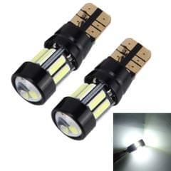 2 PCS 5W 400LM T10 7020 Car Width Lamp Clearance Light Parking Lights with Lens & 10 LED Lights(White Light)