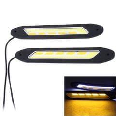 2 PCS 6W LED COB LEDs Daytime Running Lights Lamps, DC 12V (Ice Blue Light)