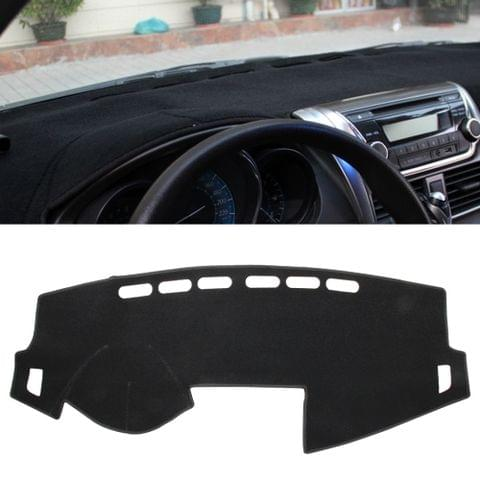 Dark Mat Car Dashboard Cover Car Light Pad Instrument Panel Sunscreen Car Mats for Honda (Please note the model and year)(Black)