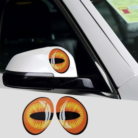 2 PCS Car Auto Eye Shape Rear View Mirror Decorative Sticker
