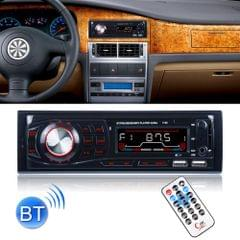 1132 Single Din Car Audio FM Radio Stereo Receiver Bluetooth MP3 Player, Support USB / SD Card / AUX, with Remote Control
