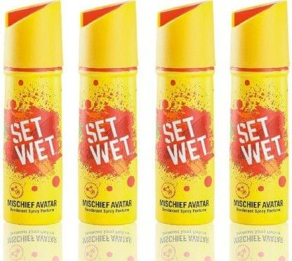 Set Wet Mischief Avator Deodorant Spray - For Men(150 ml, Pack of 4)