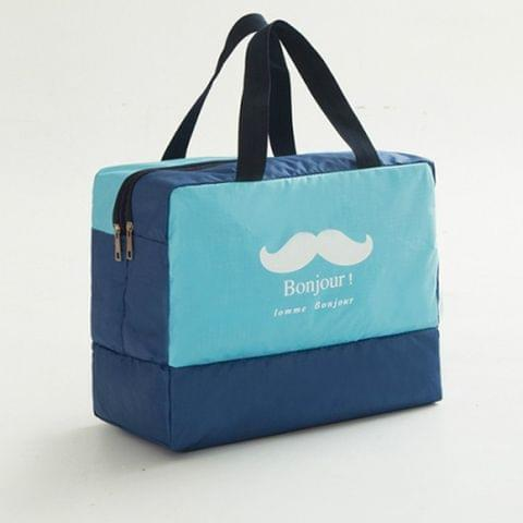 Fashion Men And Women Travel Waterproof Storage Bag Oxford Cloth Travel Bag Swimming Bag Beach Bag(Blue Beard)