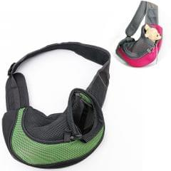 Dog and Cat Sling Carrier Hands Free Reversible Pet Papoose Bag, Size:Large(Green)