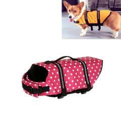 Pet Saver Dog Reflective Stripes Life Vest Jacket for Swimming Boating Surfing, Size: M (Pink Dot)