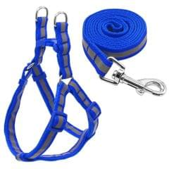 Small Medium Dogs Nylon Reflective Dog Leash Lead Set, Size:S(Blue)