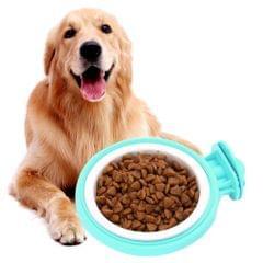 Colorful Fixed Style Suspensibility Detachable Dogs Pet Bowls, Bowl Size: L, 12*5.0*4.0 cm (Green)