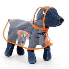 Waterproof Transparent Pet Raincoat Rain Wear Poncho Cloth, XXL, Harness Chest Size: 51cm, Back Length: 42cm, Pet Weight: 5.5-6.5kg(Orange)                                               ()