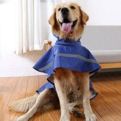 Teddy Golden Retriever Large Dog Practical Reflective Breathable Raincoat(Purple S)