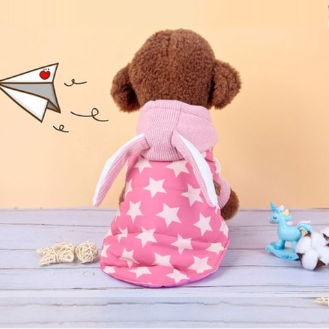 Autumn and Winter Two-piece Dog Cat Vest Sweater Suit Pet Two Feet, Size: XS (Pink Vest Sweater)