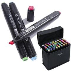 TouchFIVE Color Art Markers Set Dual Headed Sketch Oily Alcohol Based Animation Manga Markers(40 Animation Set)