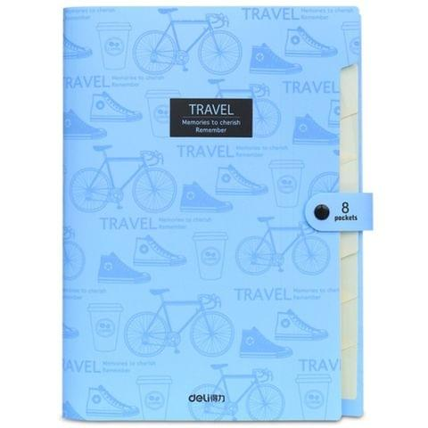 A4 Student Multi-layer Test Paper Folder Package Storage Bag(Sky Blue)