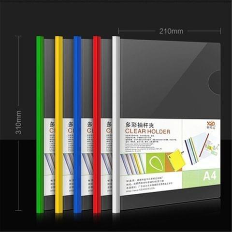 12 PCS A4 Folder Transparent PP Report Cover Spine Bar Folder, Random Color Delivery 12 mixed color