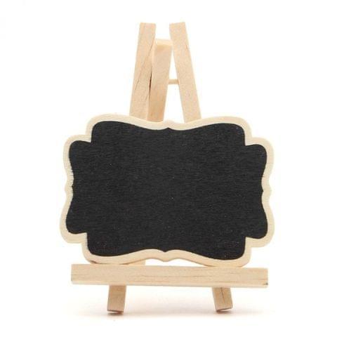10 PCS Mini Wooden Blackboard Message Chalkboard Wedding Party Decor(7x9x1.2 cm)
