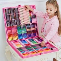 Art Set Painting Watercolor Drawing Tools Kids Gift Box(288 PCS Pink)
