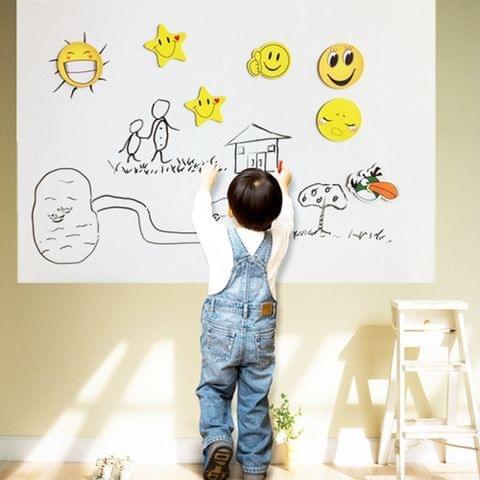 PVC Creative Message DIY Whiteboard Sticker Stationery Memo, Size: 45x200cm