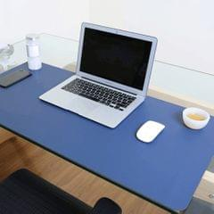 Multifunction Business Double Sided PVC Leather Mouse Pad Keyboard Pad Table Mat Computer Desk Mat, Size: 90 x 45cm(Blue + Yellow)