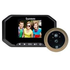 Danmini YB-35AHD-M 3.5 inch Screen 2.0MP Security Camera No Disturb Peephole Viewer, Support TF Card / Night Vision / PIR Motion Detection / Video Recording(Black)