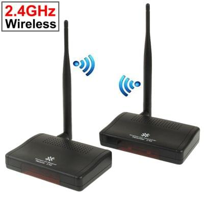 2.4GHz 4 Channels Wireless AV Transmitter & Receiver, Compatible with DVD, DVR, CCD Camera, IPTV, Satellite Set-Top Box and Other AV Output Devices, Maximum Transmission Distance: 300m(Black)