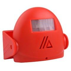 5301 Wireless Infrared Motion Sensor Welcome Alarm Intelligent Greeting Warning Doorbell, IR Distance: 10m (Red)
