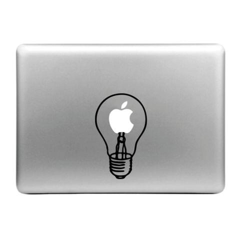 Hat-Prince Lamp Bulb Pattern Removable Decorative Skin Sticker for MacBook Air / Pro / Pro with Retina Display, Size: S