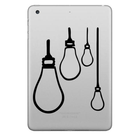ENKAY Hat-Prince Four Lamps Pattern Removable Decorative Skin Sticker for iPad mini / 2 / 3 / 4