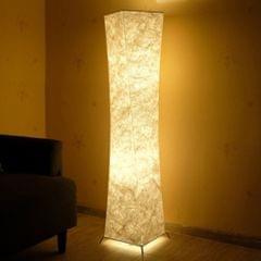 Softlighting Minimalist Design Fabric Shade Standing Light Living Room Bedroom Warm Atmosphere LED Floor Lamp, Plug:EU Plug