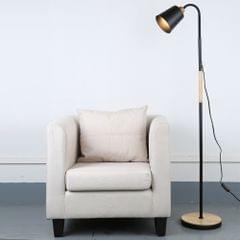 YWXLight Creative Metal Rotating Floor Lamp (Black)